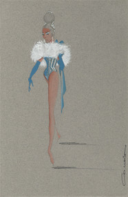 Showgirl Costume Design by Colabucci (Blue)
