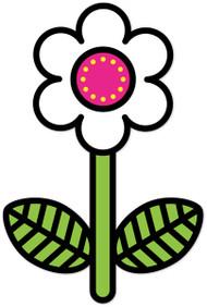 Hippie Weekend Flower White