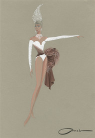 Showgirl Costume Design by Colabucci (White)