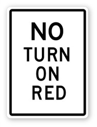 No Turn On Red Wall Graphic