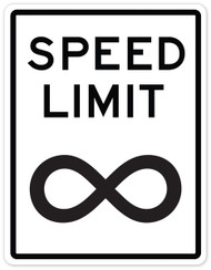 Speed Limit Infinity Wall Graphic
