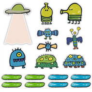 Doodle Jump Classic Mini Wall Graphics Set of 17 Wall Graphics (6 inch - 12 inch)