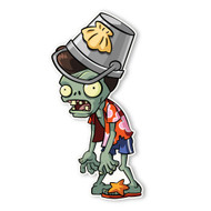 Plants vs Zombies 2: Pompadour Buckethead Zombie