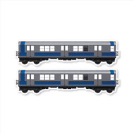 "All City Style Sliver Streak: Set of Two 24"" x 6.5"" Premium Blank Classic Train Wall Graphics"