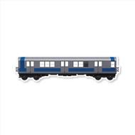 All City Style Premium Classic Train Wall Graphics: Silver Streak