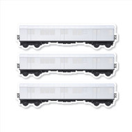 "All City Style White Elephant: Set of Three 12"" x 3.25"" Premium Blank Classic Train Wall Graphics"
