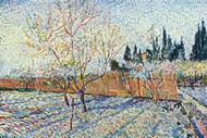 Orchard by Vincent Van Gogh