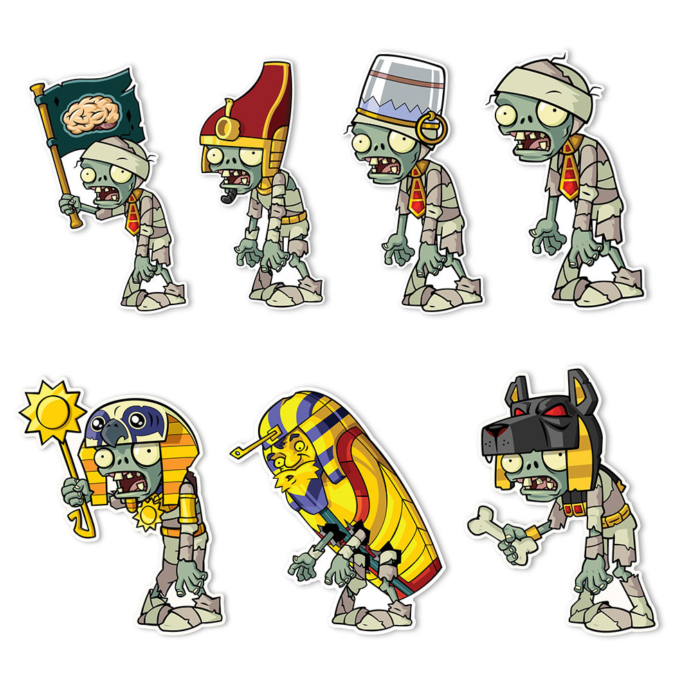 Plants vs  Zombies 2 Wall Decals: Special Ancient Egypt Zombie Set 1 (Seven  4-6 inch Wall Decals)