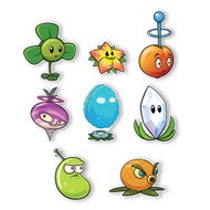 Plants vs. Zombies 2 Wall Decals: Special Far Future Plant Set I (Eight Plants 3.5 to 5 inches longest side)