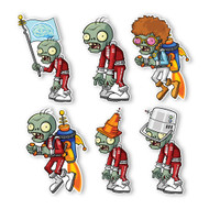 Plants vs. Zombies 2 Wall Decals: Special Far Future Zombie Set I (Six Zombies 6 inches longest side)