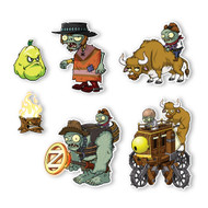 Plants vs. Zombies 2 Wall Decals: Special Wild West Zombies Set II (Six 4-6 inch tall Zombies)