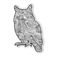 Begsonland Owl Doodle Decal