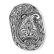 Begsonland Paisley Doodle Decal