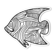 Begsonland Angel Fish Doodle Decal