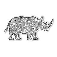 Begsonland Rhino Doodle Decal