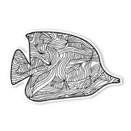 Begsonland Tropical Fish Doodle Decal