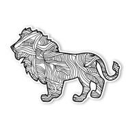 Begsonland Lion Doodle Decal