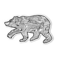 Begsonland Black Bear Doodle Decal