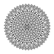 Begsonland Mandala Stained Glass Doodle Decal
