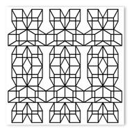 Begsonland Optical 3D Square Doodle Decal