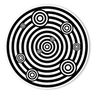 Begsonland Circles On Circles Doodle Decal