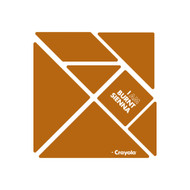 CrayoIa Wall Tangram: I AM Burnt Sienna