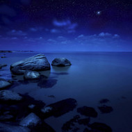 Nighttime Photo Of Sea And Starry Sky Burgas Region Bulgaria
