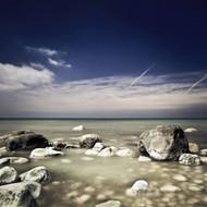 Big Boulders In The Sea Liselund Slotspark Denmark