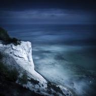Aerial View of Chalk Mountain and Sea Mons Klint Cliffs Denmark