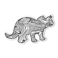 Begsonland Triceratops Doodle Decal