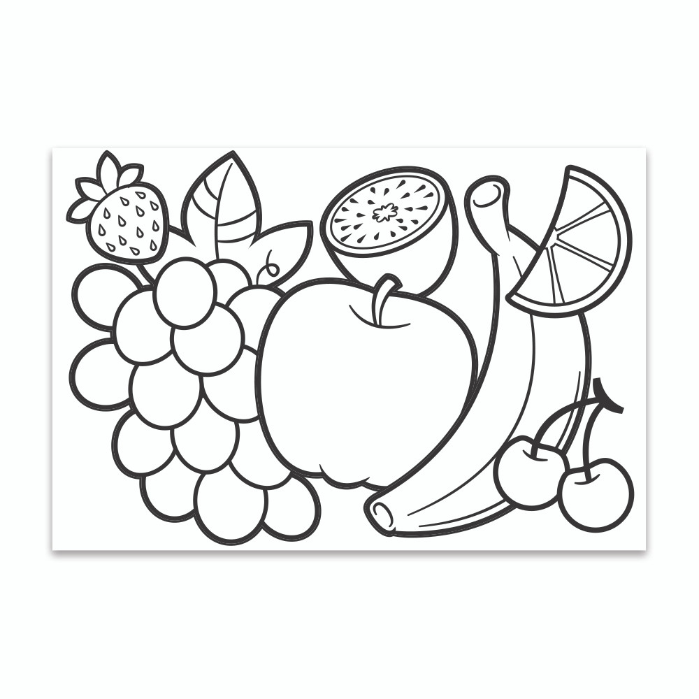 Crayola Coloring Wall Graphic: Mixed Fruit