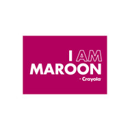 Crayola Colors Wall Graphic: I AM Maroon