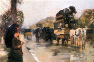 Champs Elysees Paris by Hassam