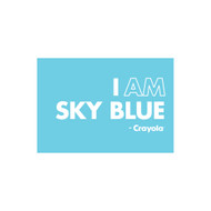 Crayola Colors Wall Graphic: I AM Sky Blue