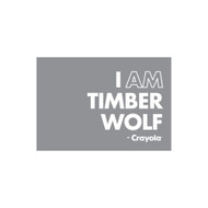 Crayola Colors Wall Graphic: I AM Timber Wolf