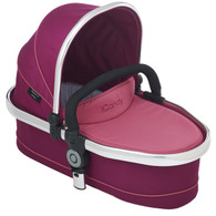 TWIN Carrycot - Fuchsia with Chrome frame