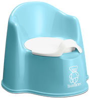 BabyBjorn Potty Chair - Turquoise & White