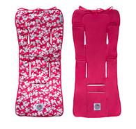 Baby Chic 100% Cotton Pram/Stroller Liner - Hot Pink - Cherry Blossom