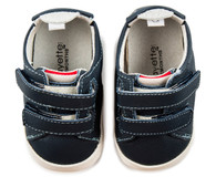 Playette Leather / Double Velcro Strap  / First Walkers- Benji 6-9 months