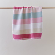 Linens 'n Things Cotton Knit Striped Baby Blanket