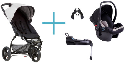 mountain buggy mini plus capsule and adaptors