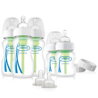 Dr Brown's Options Newborn Wide Neck Baby Bottle Gift Set