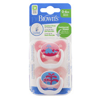 Dr Brown's Prevent Orthodontic Soother 0 - 6 months 2 Pack