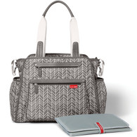 Skip Hop Grand Central Tote Diaper Bag  - Grey Feather