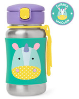 Skip Hop Zoo Stainless Steel Straw Bottle - Unicorn