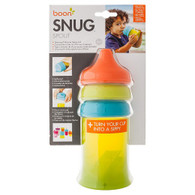 Snug Spout Universal Silicone Sippy Lids and Cup - Blue/Green/Orange