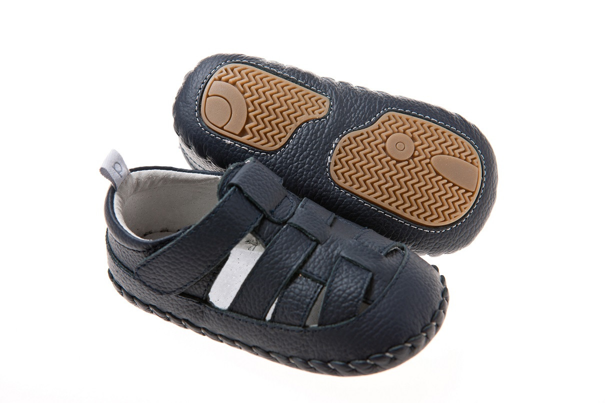 ab64b59e1e9b Playette Leather / Double Velcro Strap / First Walkers