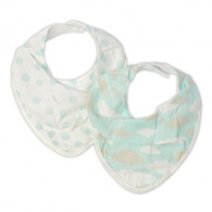 The Little Linen Company - Bib 2 Pack - Blue Clouds