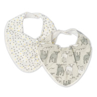 The Little Linen Company - Bib 2 Pack - Yellow Lamb
