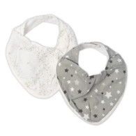 The Little Linen Company - Bib 2 Pack - Starlight Grey